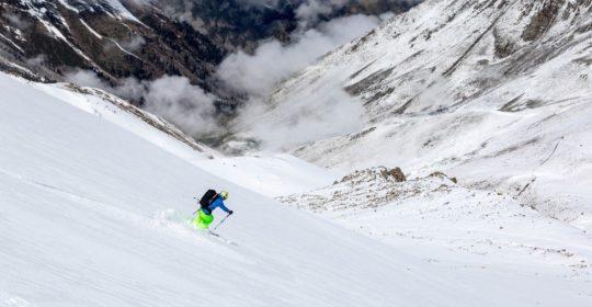 Cosmic freeride ski-tour programme